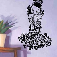 Skeleton Version 106 Pin Up Model Wall Vinyl Decal Sticker Art Graphic Sticker Sugar Skull