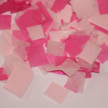 Tissue Paper Confetti, light pink & hot pink, gender reveal, baby shower, wedding, table decoration, push pop filler, bridal shower