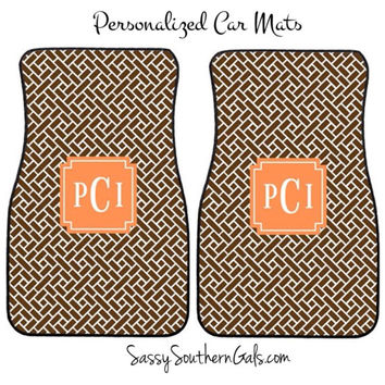 Monogrammed Car Mats, Personalized Car Mats, Design Your Own Car Mats, Monogrammed Car Accessory, Monogrammed Gift