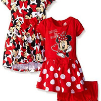 Disney Baby-Girls Minnie Mouse Rock The Dots Dresses, Red, 24 Months (Pack of 2)