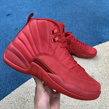 [Free Shipping ] Air Jordan 12 Gym Red AJ12  130690-601  Basketball Shoes