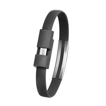 About 22cm Wristband Micro USB Cable shorts Charger Data Sync Cable Android For Cell Phone Charger Bracelet Cable usb WIRE 2016
