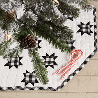 Emmie Patchwork Mini Tree Skirt - Black
