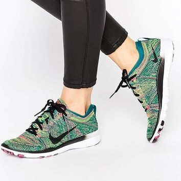 Nike Free TR Flyknit Green Trainers