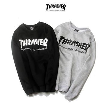 kuyou Thrasher Skateboard Magazine Sweater
