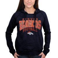 Women's Denver Broncos 5th & Ocean by New Era Navy Blue Pullover Hoodie