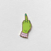 Glow Pissed Alien Girl Lapel Pin