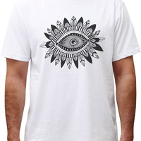 Men Aztec Tribal Graphic Printed Cotton Short Sleeves T-shirt MTS_00