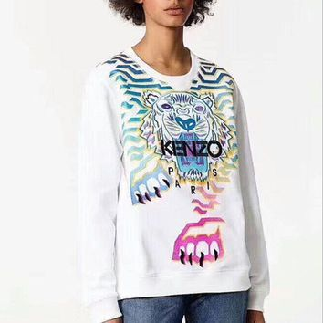PEAPON ' KENZO '' Fashion Casual Long Sleeve Sweater Pullover Sweatshirt
