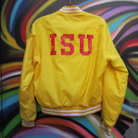 Sweet Bright Yellow Iowa State Cyclones Snap-Up Jacket