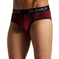 Clever Mens Rain Brief, Red, Small