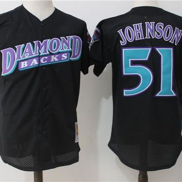 Best Deal Online Major League Baseball Jersey Arizona Diamondbacks #51 Randy Johnson