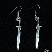 Buy one get free gift! Sword and Knight Silver Earrings -- Damon and Pythias!!