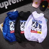 hcxx 1366 The North Face x Supreme Letter printed loose hat sunscreen