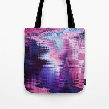 violet abstract background Tote Bag by Oksana