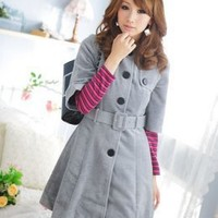 Wholesale Online Store Fashion Warming Half Sleeve Long Gray Jackets