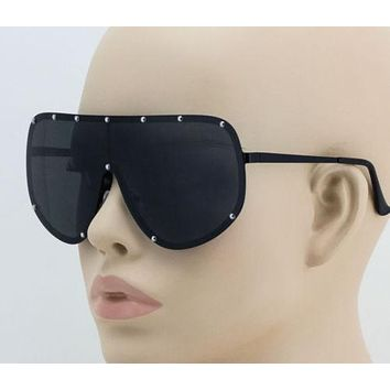 Oversized Shield Wrap Big Mask Half Face XXL Huge Largee Sunglasses