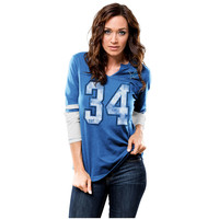 Majestic Detroit Lions Women's Blue Kickoff Blitz Long Sleeve T-Shirt