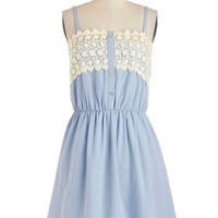 ModCloth Mid-length Spaghetti Straps A-line Afternoon Reverie Dress