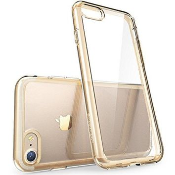 iPhone 7 Case, [Scratch Resistant] i-Blason Clear [Halo Series] for Apple iPhone 7 Cover 2016 Release (Clear/Gold)