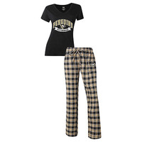 Pittsburgh Penguins Pajama Pants and V - Neck Top Set