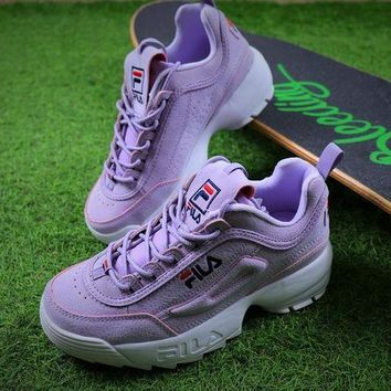 LMFON Best Online Sale FILA Disruptor II 2 Purple Sport Running Shoes Sneaker FW0165-029