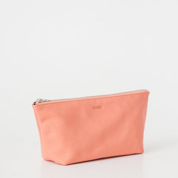 Small Leather Cosmetic Pouch Melon