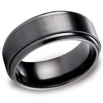 Benchmark 9MM Black Titanium Comfort Fit Wedding Band