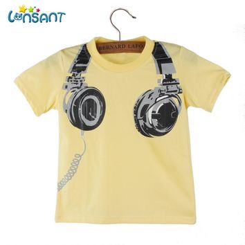 LONSANT High Quality Cotton Boy T-shirt 2018 Funny Baby Clothes Casual Short Sleeve Pasgeboren Baby Boy Kleding Dropshipping