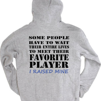 Basketball mom shirt.  Favorite player.  Hoodie sweatshirt in white for gray.
