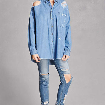 Twelve Frayed Chambray Shirt