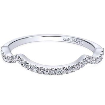 "Gabriel ""Marissa"" Curved Diamond Wedding Band"