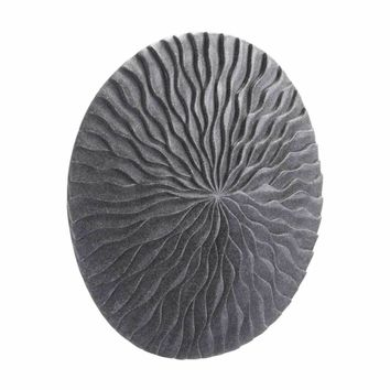 Round Wave Small Plaque Dark Gray