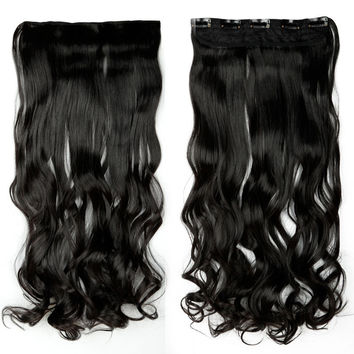 """Lush 24"""" Inch Wavy Clip In Hair Extension"""