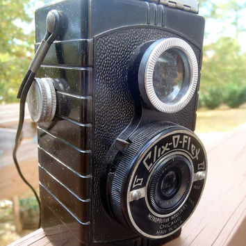 Camera Clix-O-Flex vintage 1947 camera -BEAUTIFUL!-fully working and exceptional condition! 127 film camera