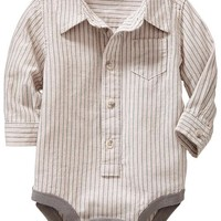 Patterned Twill Bodysuits for Baby