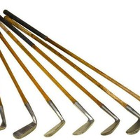 Antique Scottish and English Hickory Shafted Golf Clubs & Putters