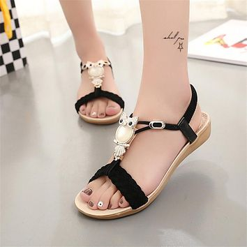 Women Sandals women shoes Flip Flops Summer Ankle-Strap Sandals Sandale Femme Crystal