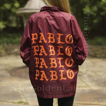 The Life of Pablo Coaches Jacket Kanye West Yeezy TLOP merch I feel like pablo pablo p