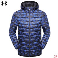 Under Armour New fashion letter print camouflage long sleeve coat down jacket men 2#