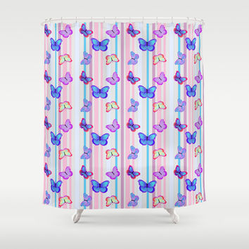 Best Colorful Striped Shower Curtains Products on Wanelo