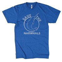 Save The Narwhals Tshirt Funny Narwhal Unicorn Shirt