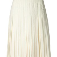 Givenchy pleated chiffon skirted