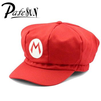 Super Mario party nes switch New  Cotton Caps Red Hat  and Luigi cap 5 colors Anime Cosplay Costume Halloween buckle hats Adult Hats Caps AT_80_8