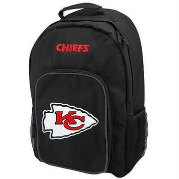 """Kansas City Chiefs NFL Concept One """"Southpaw"""" Black Color Backpack"""