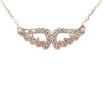 Double Angel Wing necklace