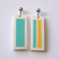 Russian porcelain earrings. Pendientes de porcelana rusa. SUN SOL