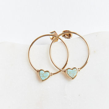 Beating Heart Hoops ~ Gold