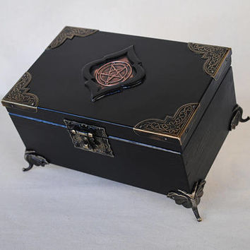 Satanic Jewelry Box,Pentacle  Symbol,Pentagram,Baphomet,Occult Art,Lucifer, Satanism, Satanic Art