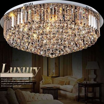 Modern LED Ceiling Chandeliers Lights Crystal Lustres Ceiling Flush Mounted creative lamp for bedroom living room Dining Room
